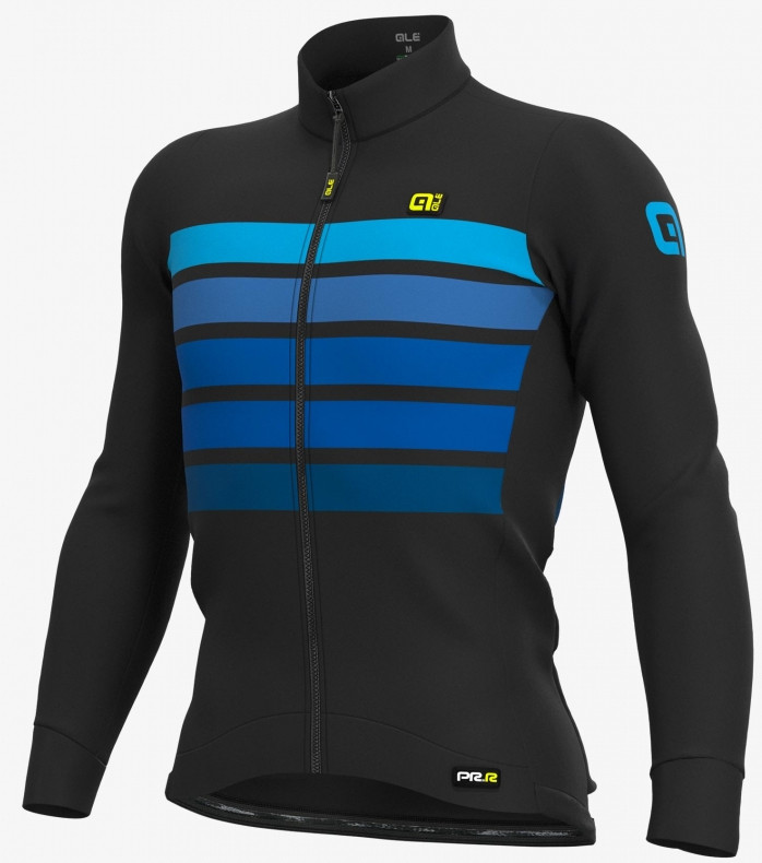ALE' Sombra Wool Thermo PRR Blue Long Sleeve Jersey