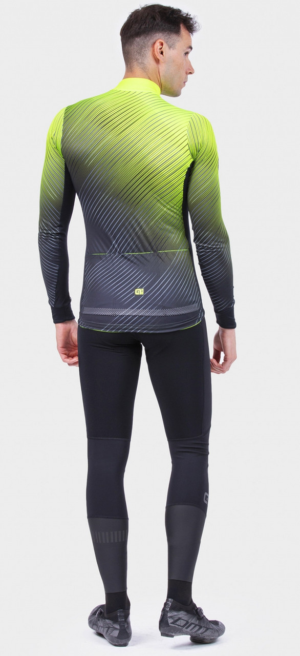 ALE' Storm PRS Yellow Long Sleeve Jersey Rider