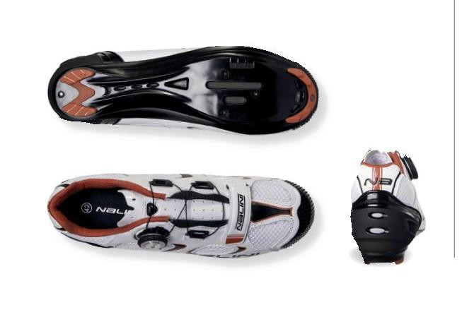 Nalini Snake White Road Shoes Bottom