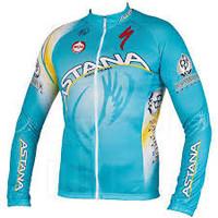 2014 Astana Long Sleeve Jersey Front