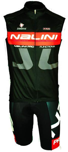 Nalini Tank Sleeveless Black Jersey Front