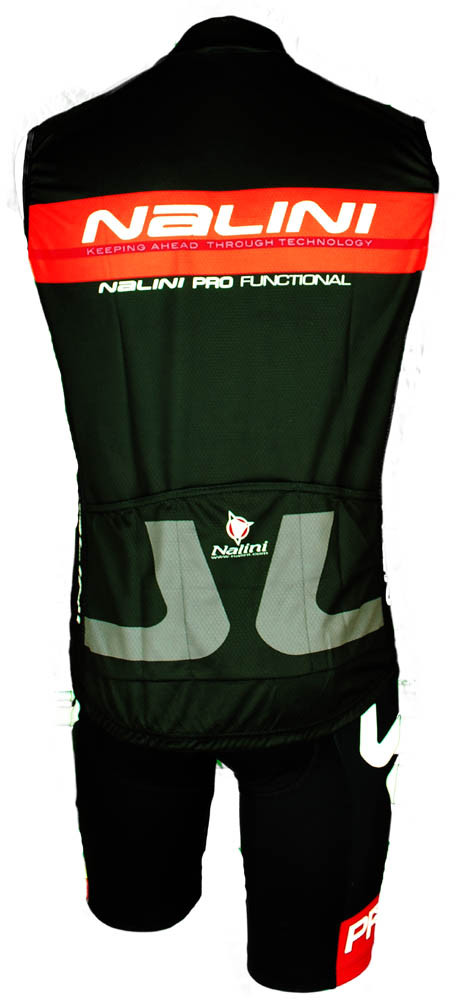 Nalini Tank Sleeveless Black Jersey Rear