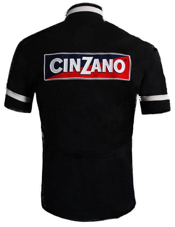 Cinzano Wool Black Retro Jersey Rear
