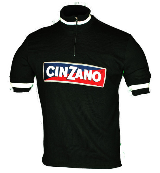 Cinzano Wool Black Retro Jersey Front