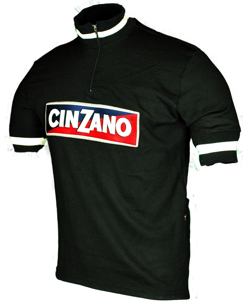 Cinzano Wool Black Retro Jersey Side