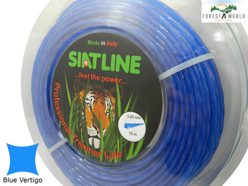 SIAT Professional Silent Strimmer line cord,3 mm,BLUE VERTIGO,MADE IN ITALY