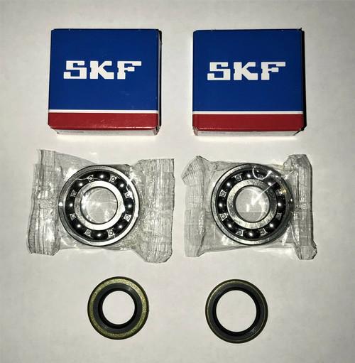 2 pcs SKF Crankshaft bearings & seals set for Jonsered 2063, 2163, 2065, 2165, 2071 and 2171,OEM 738 22 02-25, 503 26 03-01, 505 27 57-19