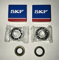 2 pcs SKF Crankshaft bearings & seals set for Jonsered 2063, 2163, 2065, 2165, 2071 and 2171,OEM 738 22 02-25, 503 26 03-01, 505 27 57-19