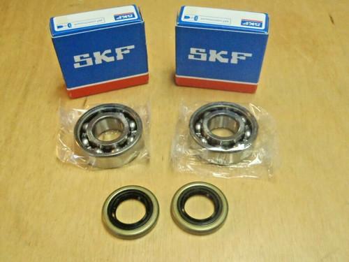 SKF crank crankshaft bearings and oil seals for Husqvarna 61 268 272 272XP OEM 738 22 02-25, 505 27 57-19
