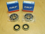 SKF crank crankshaft bearings and oil seals for Husqvarna 61 268 272 272XP OEM 738 22 02-25, 505 27 57-19