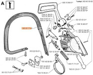 Jonsered 625 630 SUPER II 670 CHAMP top carry handle 503617101