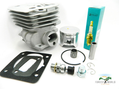 Husqvarna 346xp chainsaw cylinder & piston kit,44.3 mm,also fits HU 350,351,353