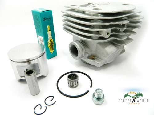 Husqvarna 362,365,372,371 chainsaw cylinder & piston kit,48 mm,round inlet,new