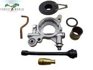 Husqvarna 365 ,371, 372xp chainsaw oil pump kit,oil pipe,filter,drive worm