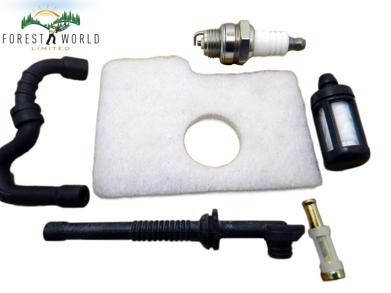 Stihl 017,018,MS 170,MS180 service kit,spark plug , air & fuel filters hose  line
