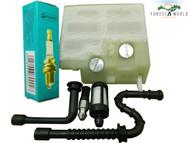 Stihl MS240,024,MS260,026 air fuel filter fuel oil hose line spark plug service kit