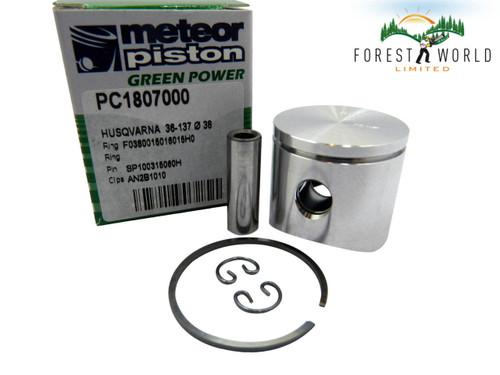 Husqvarna 36,136,137 piston kit,38 mm,530 06 99 40,Made in Italy by METEOR
