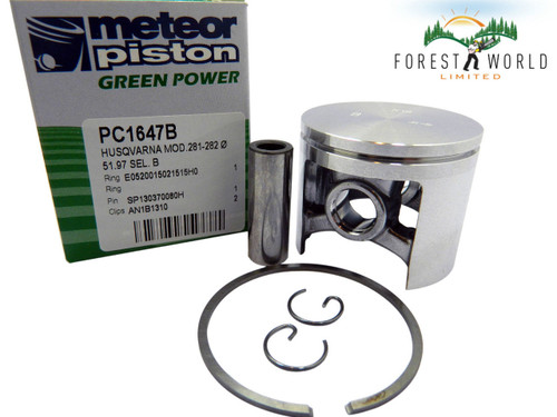 Husqvarna 181,281,282 piston kit,52 mm,503 50 27 02,Made in Italy by METEOR