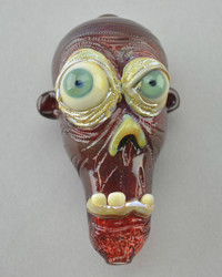 "BARD - ""Zombie Head"" Glass Spoon Pipe"
