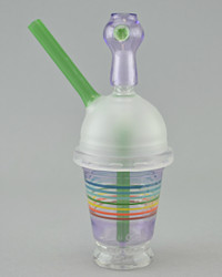 "EVOL x COWBOY - Dabuccino ""Starbucks Style"" Cup Vapor Rig - Purple Rainbow Encalmo - NOT FOR SALE"