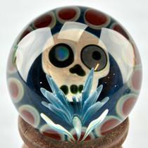ZARIEL SHORE - Skull w/ Opal Eye and Flower - Dot Stack Backing - #2