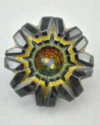 CARVER B - Carved Artifact Pendant w/ Fume Implosion and Opal - NOT FOR SALE