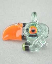 RJ - Glass Toucan Bird Pendant - #1