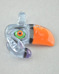 RJ - Glass Toucan Bird Pendant - #4