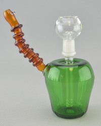 CRUSH - Apple Worm Dab Rig w/ 14mm Dome & Nail - #1