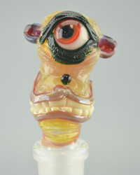 "BARD - 18mm ""Smiley Cyclops"" Slide - #2 (UV Reactive)"