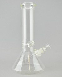 "MIO - 11"" Glass Beaker Bong w/ Downstem and Martini Slide - Clear"