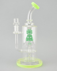 AFM - Doughnut Incycler Rig w/ 14mm Female Joint & Slide - Slyme #1