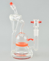 AFM - Classic Recycler Rig w/ 14mm Female Joint & Slide - Orange