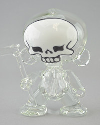 "COYLE x O'RY Collab - Skull-face ""Munny"" Vapor Rig w/ 14mm Slide, Dish, and Reaper Dabber"