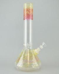 """MIO - 14"""" Glass Beaker Bong w/ Downstem, Slide, & Fume Work"""