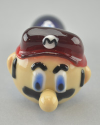 "CHAMELEON - ""Mario"" Spoon Pipe w/ Single Hole Push Bowl & Carb"