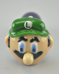 "CHAMELEON - ""Luigi"" Spoon Pipe w/ Single Hole Push Bowl & Carb"