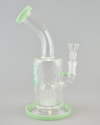 AFM - 8 Arm Bubbler w/ 14mm Female Joint & Slide - Mint