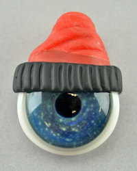 JUNKIE - Eyeball Pendant with Black & Red Beanie