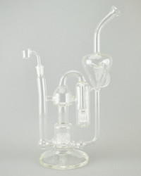 MR. FLOW - Rollercoaster Recycler Rig w/ 14mm Female Joint & Quartz Banger