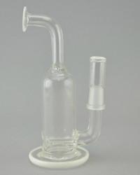 DOMER - Mini Stemline Dab Rig w/ 14mm Male Joint & Dome - White