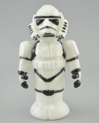 """TAMMY BALLER - """"Storm Trooper from Star Wars"""" Vapor Rig w/ 14mm Fixed 2-hole Diffy & Dome"""