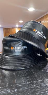 Logo Leather Bucket Hat Black