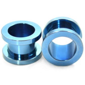 "Light Blue Titanium Screw Fit Tunnel Plugs (14g-1"")"