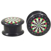 "Bulls Eye Dartboard Screw Fit Ear Plugs (8g-5/8"")"