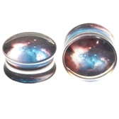 "Double Flared Acrylic Nebula Cloud Plugs (2g-1"")"