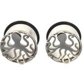"Steel Cut Octopus Single Flared Plugs (0g-5/8"")"
