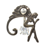 Beautiful Heavenly Angel Top Down Belly Ring
