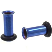 Blue Titanium Single Flared Tunnels Plugs (10g-00g)