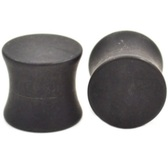"Black Matte Saddle Ear Plugs (8g-1/2"")"
